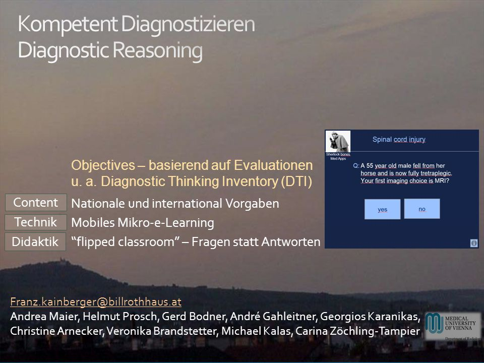 Kompetent Diagnostizieren Diagnostic Reasoning
