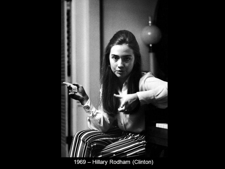 1969 – Hillary Rodham (Clinton)