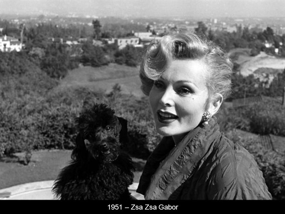 1951 – Zsa Zsa Gabor