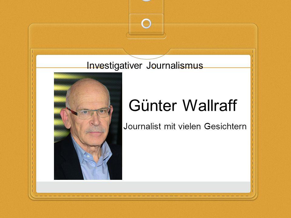 Journalist mit vielen Gesichtern