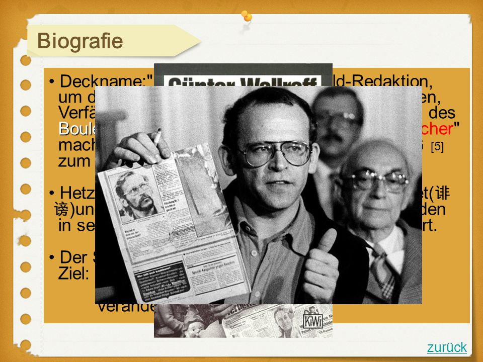 Biografie Deckname: Hans Esser in einer Bild-Redaktion,