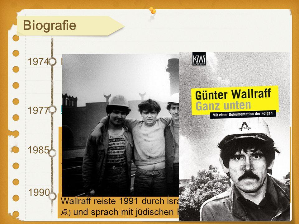 Biografie 1974 Einmal verliert er den Kampf 1977