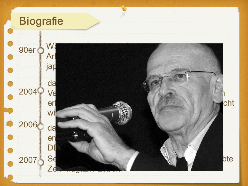 Biografie Wallraff recherchierte in Japan als iranischer Arbeiter. Die dazugehörige Reportage fand im japanischen Fernsehen Aufmerksamkeit.