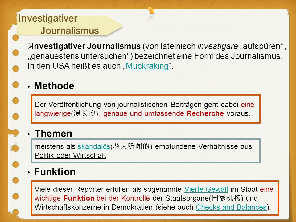Investigativer Journalismus
