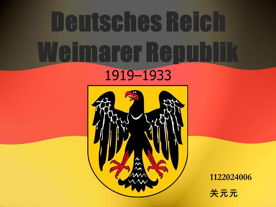 Deutsches Reich Weimarer Republik