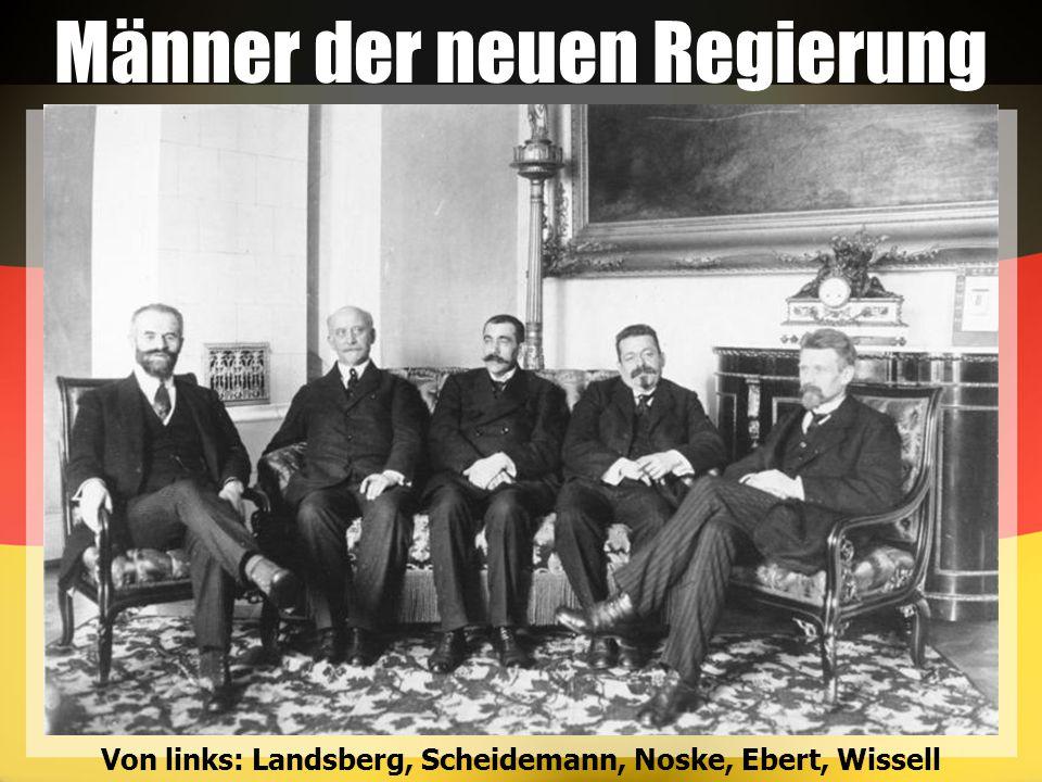 Männer der neuen Regierung