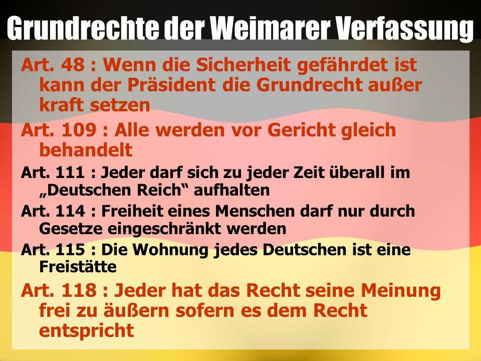 Grundrechte der Weimarer Verfassung