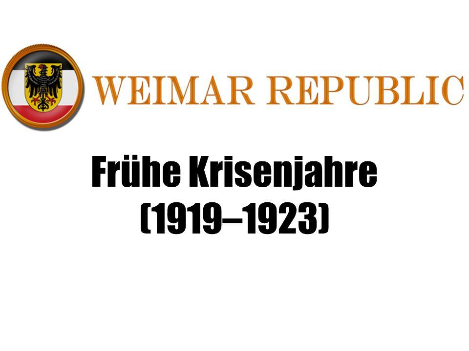 Frühe Krisenjahre (1919–1923)