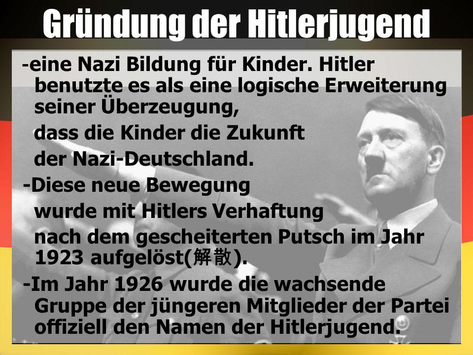 Gründung der Hitlerjugend