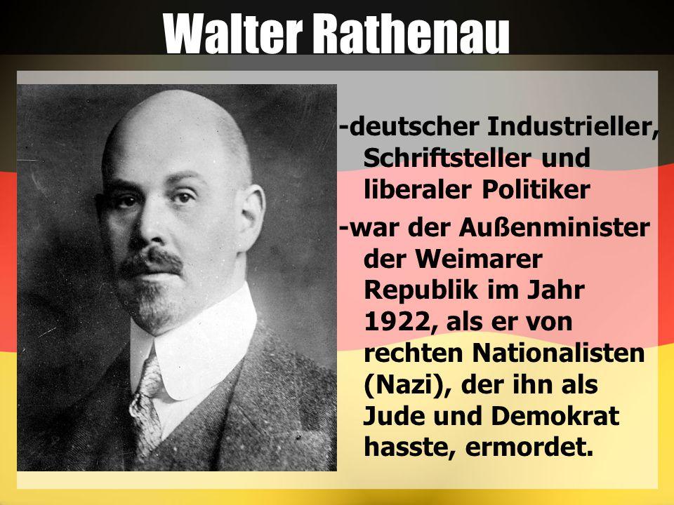 Walter Rathenau -deutscher Industrieller, Schriftsteller und liberaler Politiker.