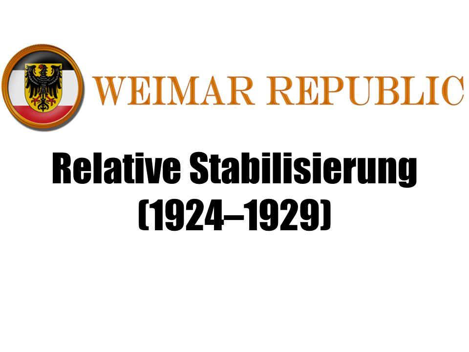 Relative Stabilisierung (1924–1929)