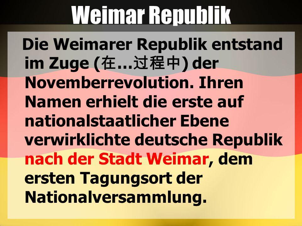 Weimar Republik