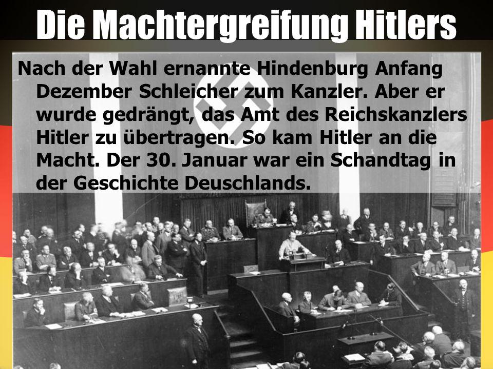 Die Machtergreifung Hitlers