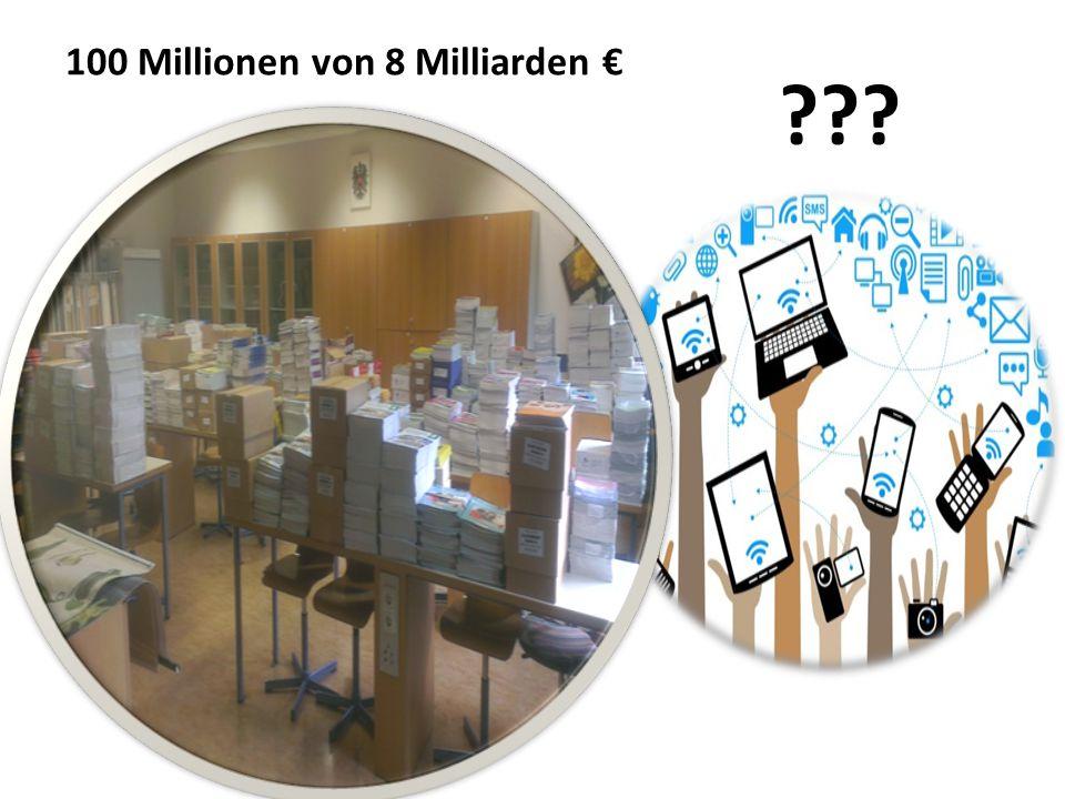 100 Millionen von 8 Milliarden €