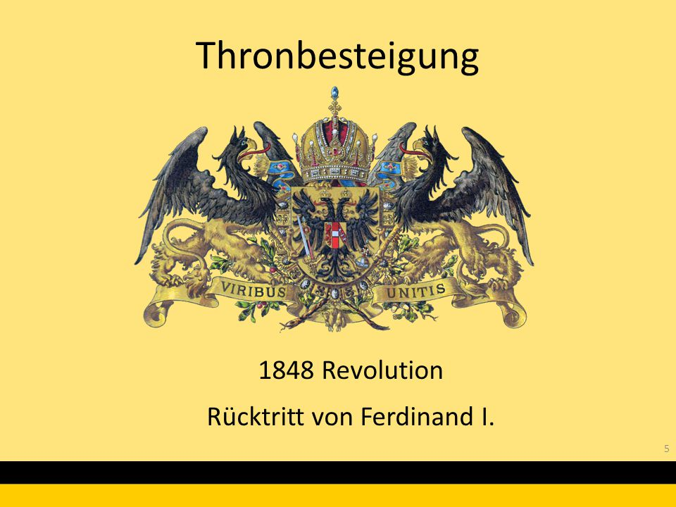 1848 Revolution Rücktritt von Ferdinand I.