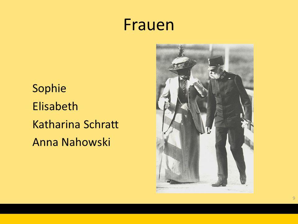 Sophie Elisabeth Katharina Schratt Anna Nahowski