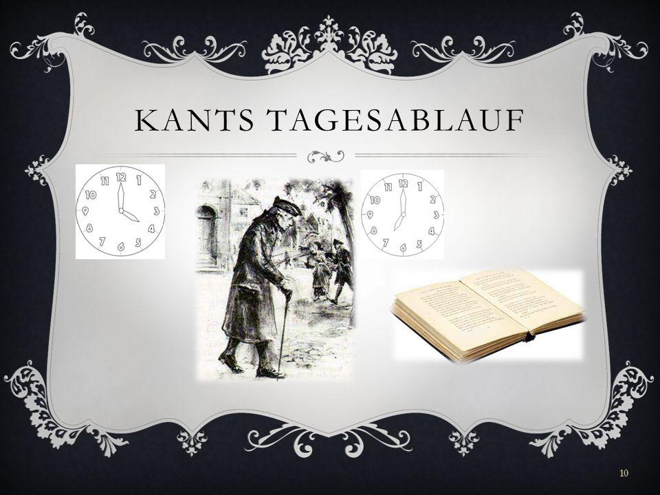 Kants tagesablauf