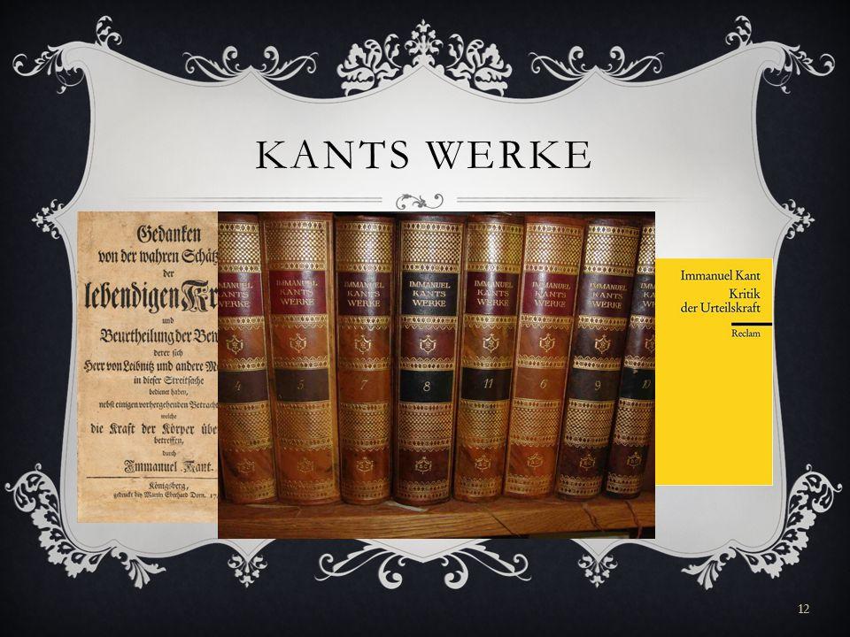 Kants werke