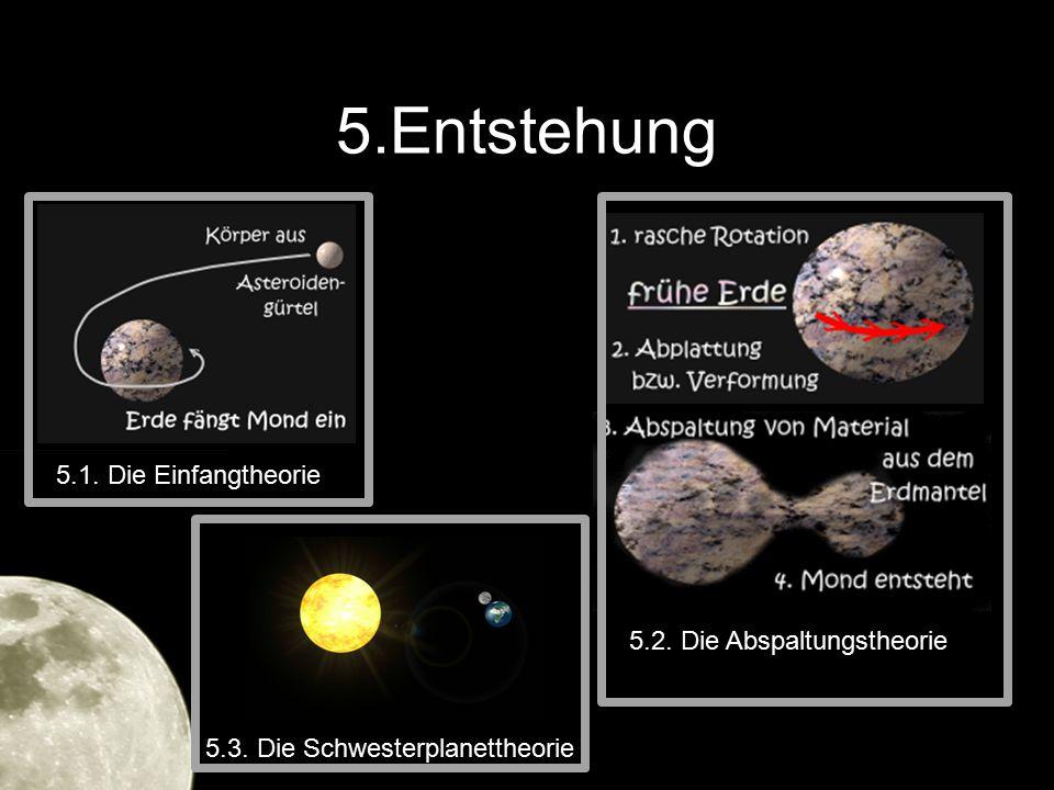 5.Entstehung 5.1. Die Einfangtheorie 5.2. Die Abspaltungstheorie