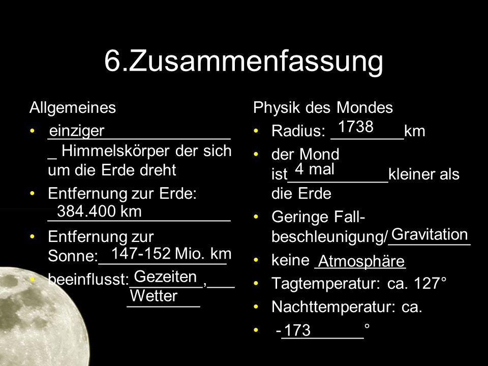 6.Zusammenfassung Allgemeines