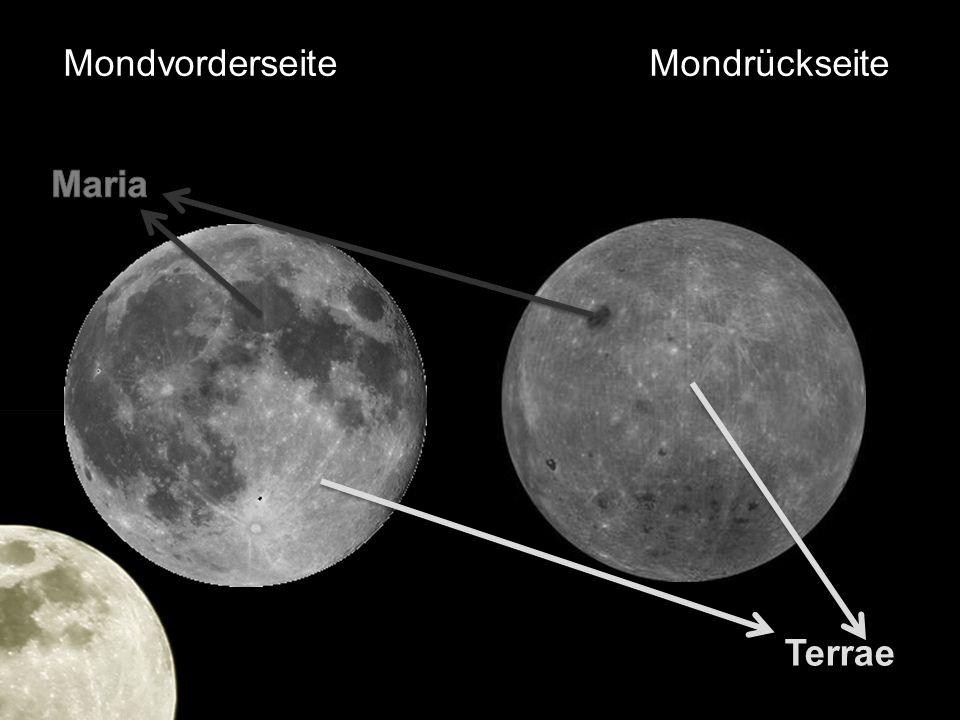 Mondvorderseite Mondrückseite