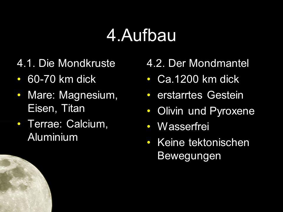 4.Aufbau 4.1. Die Mondkruste 60-70 km dick