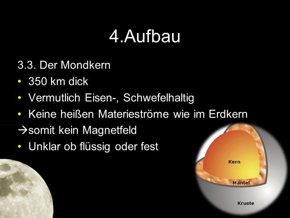 4.Aufbau 3.3. Der Mondkern 350 km dick