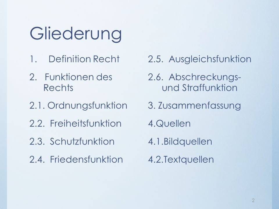 Funktionen des Rechts. - ppt video online herunterladen
