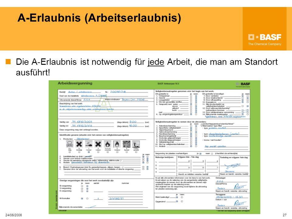 A-Erlaubnis (Arbeitserlaubnis)