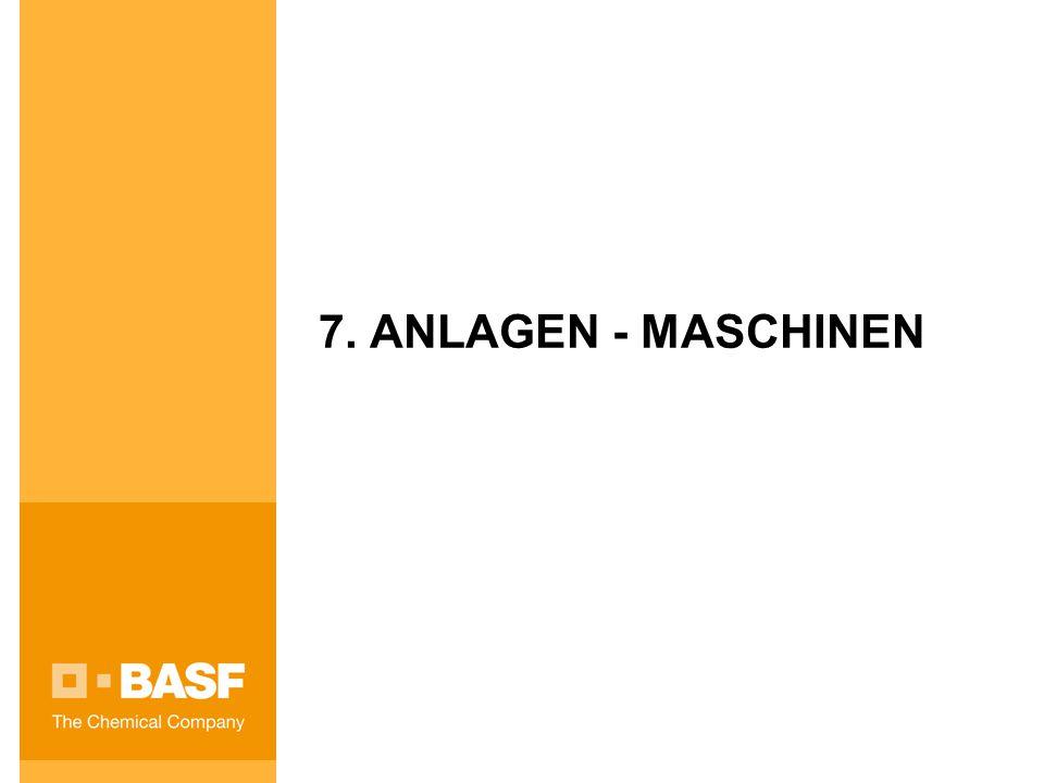 7. ANLAGEN - MASCHINEN