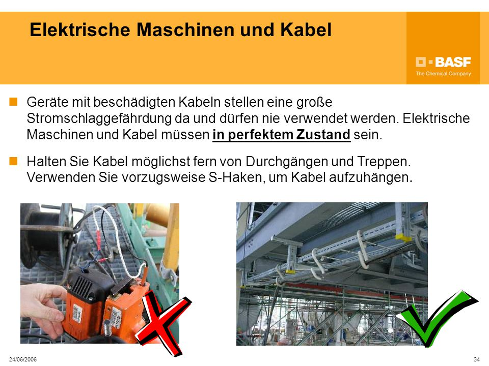 Elektrische Maschinen und Kabel
