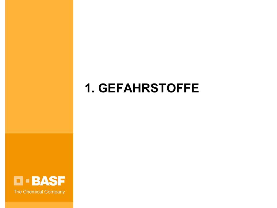 1. GEFAHRSTOFFE