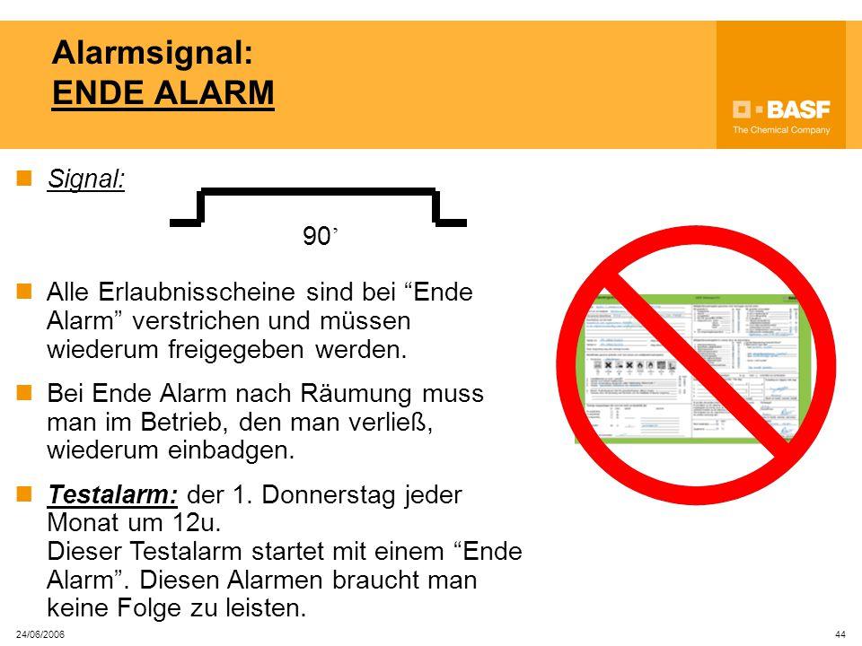 Alarmsignal: ENDE ALARM