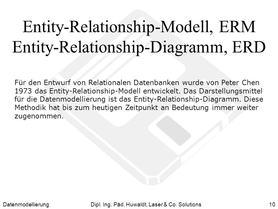 Entity-Relationship-Modell, ERM Entity-Relationship-Diagramm, ERD