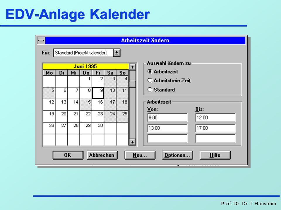 EDV-Anlage Kalender