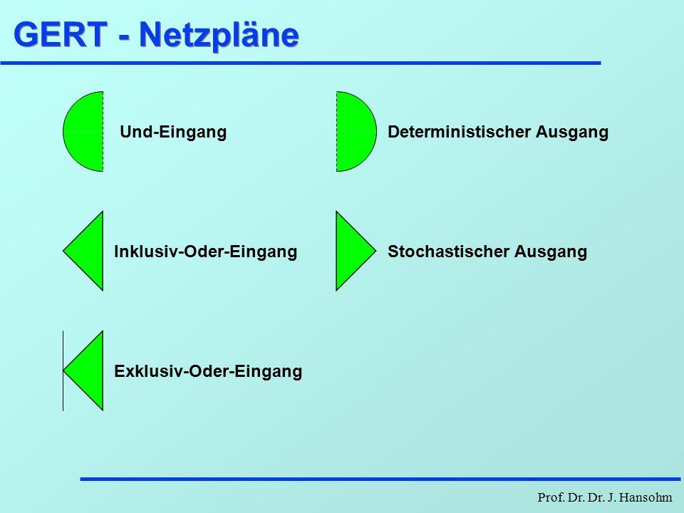 GERT - Netzpläne Und-Eingang Deterministischer Ausgang