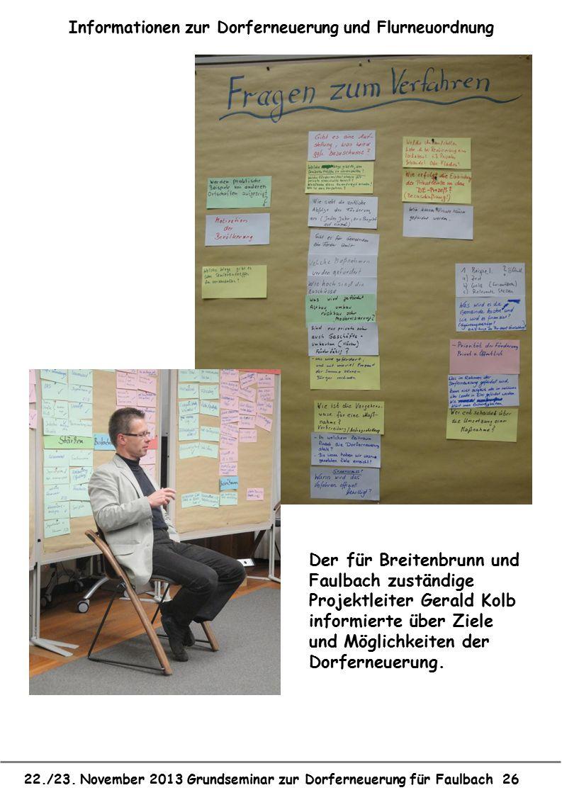 Informationen zur Dorferneuerung und Flurneuordnung