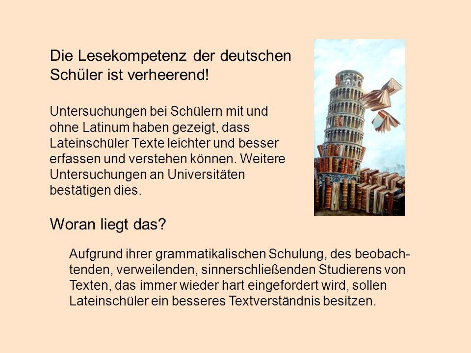 Die Lesekompetenz der deutschen Schüler ist verheerend!