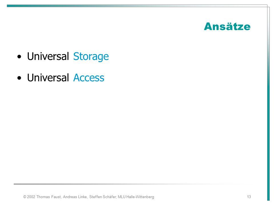 Ansätze Universal Storage Universal Access 08.04.2017