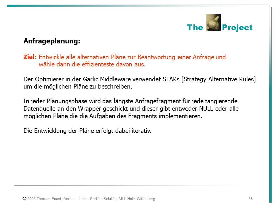 The Project Anfrageplanung: