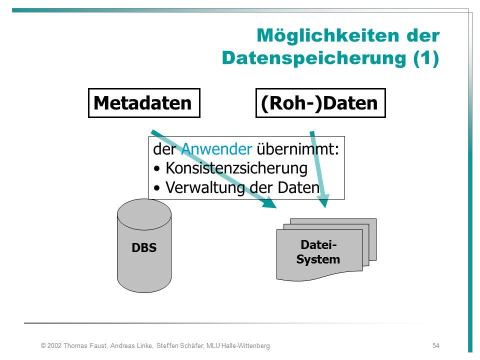 Möglichkeiten der Datenspeicherung (1)