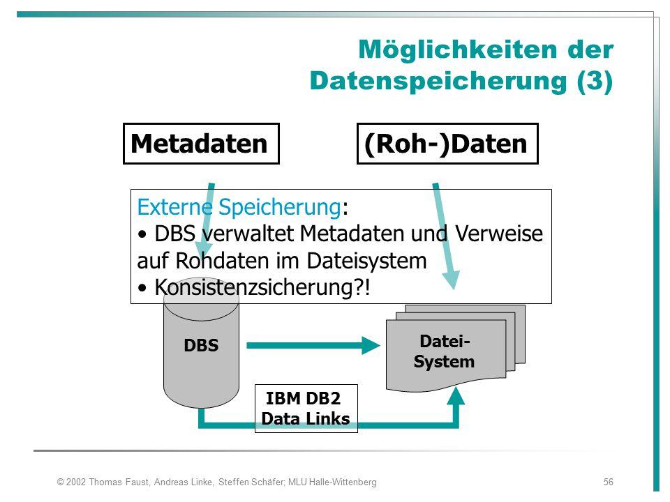 Möglichkeiten der Datenspeicherung (3)