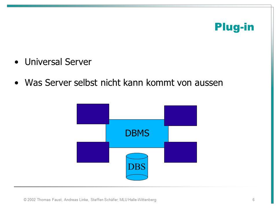 Plug-in Universal Server Was Server selbst nicht kann kommt von aussen