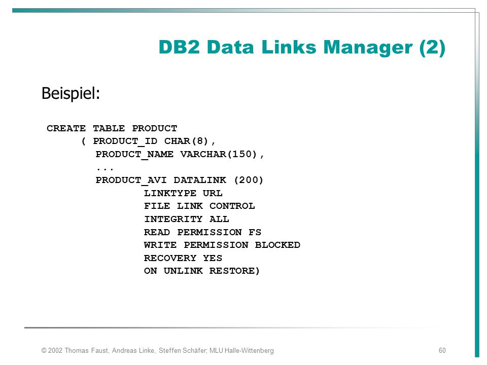 DB2 Data Links Manager (2)