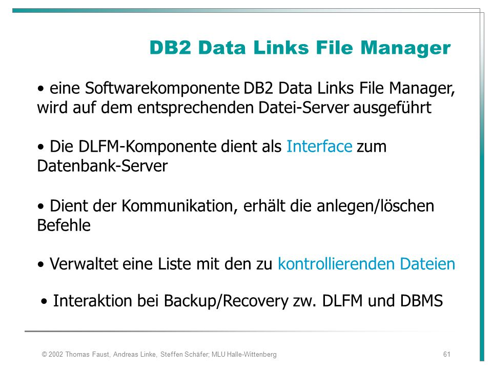 DB2 Data Links File Manager