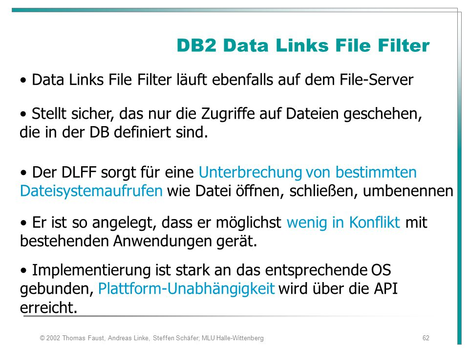 DB2 Data Links File Filter