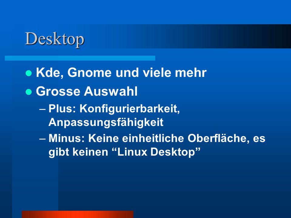 Desktop Kde, Gnome und viele mehr Grosse Auswahl