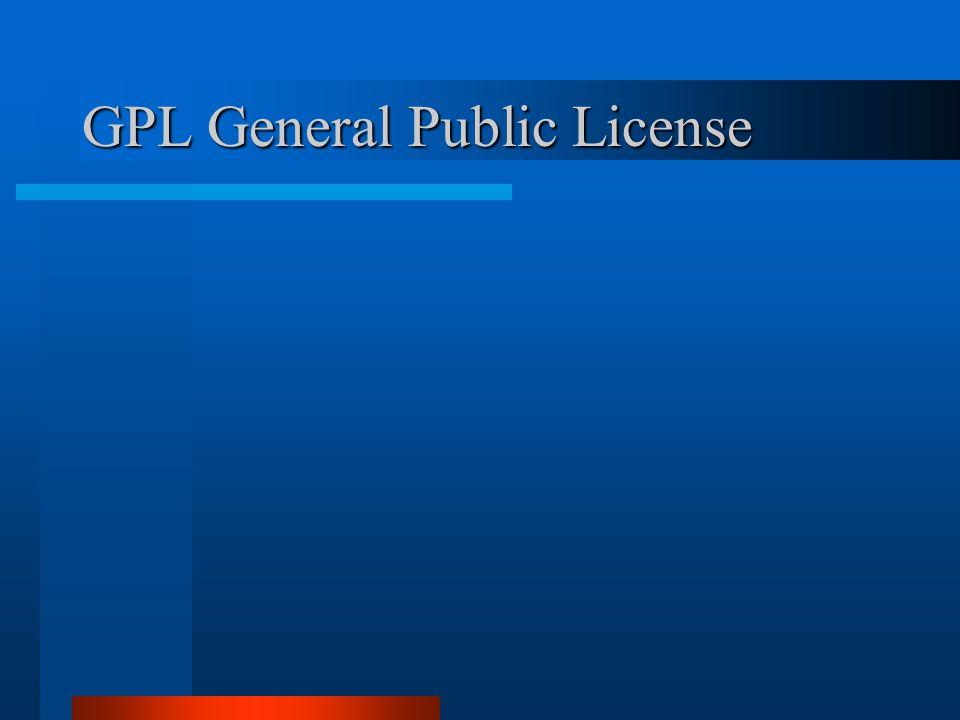 GPL General Public License