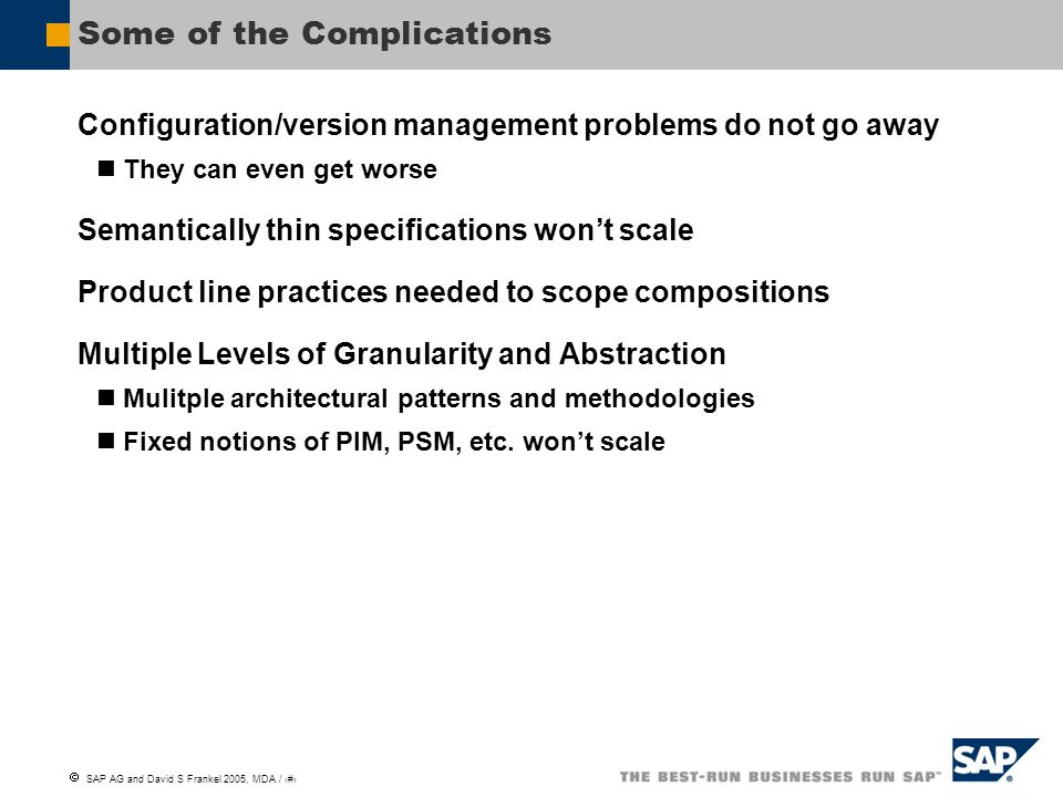 Some of the Complications