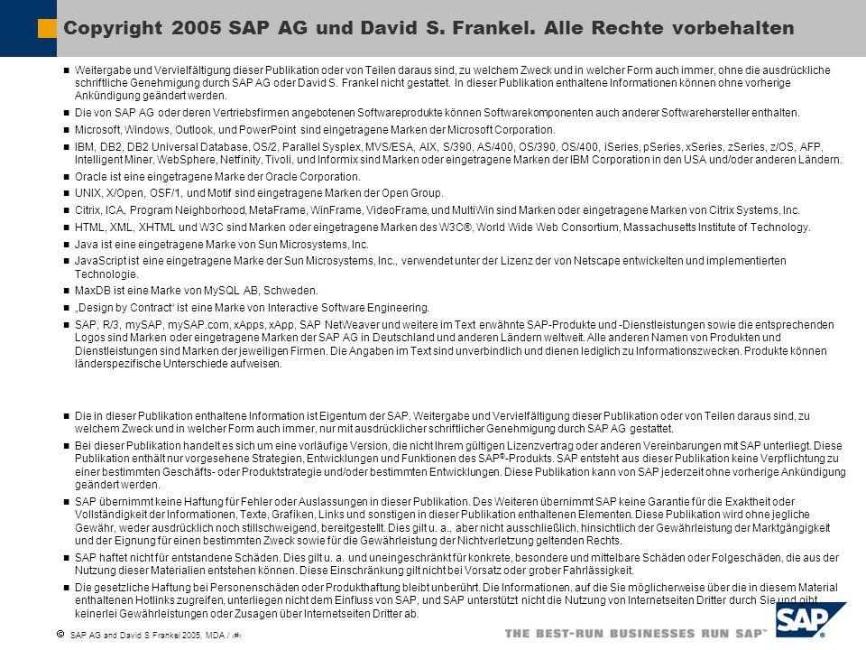 Copyright 2005 SAP AG und David S. Frankel. Alle Rechte vorbehalten